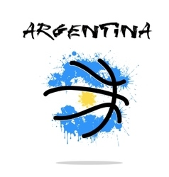 Flag of Argentina as an abstract basketball ball vector image