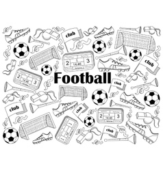 Football colorless set vector