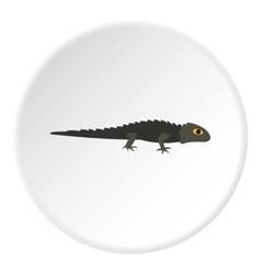 Grey iguana icon flat style vector