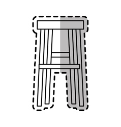 Isolated chair design vector image vector image