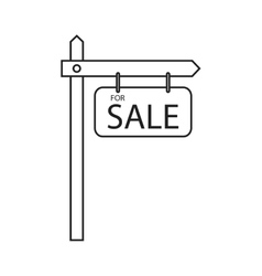 Isolated sale road sign design vector