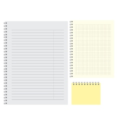 Lined simple blank note pat template of clear vector