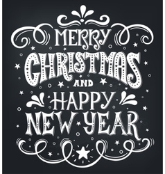 Merry christmas and happy new year conceptual vector