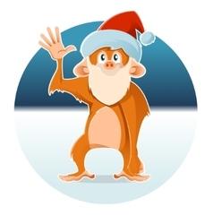 New year monkey vector