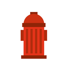 Red fire hydrant on the street emergency equipment vector
