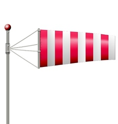 Red windsock vector