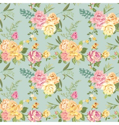 Seamless flower background - shabby roses vector
