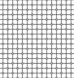 Seamless monochrome rail pattern vector image vector image