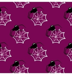 Seamless Pattern Halloween Spider vector image vector image