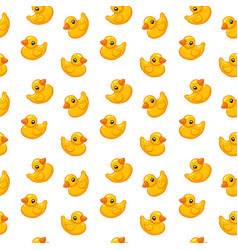 seamless pattern rubber duck toy vector image