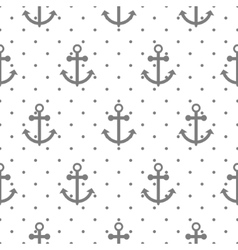 Seamless pattern with nautical anchors vector image vector image