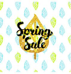 Spring sale handwritten design vector