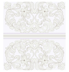 Vintage ornamental lace with floral card vector