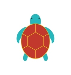Tortoise cute animal sea little icon vector