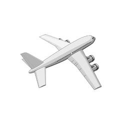 commercial jet plane airliner vector image