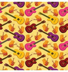 Seamless background guitars vector