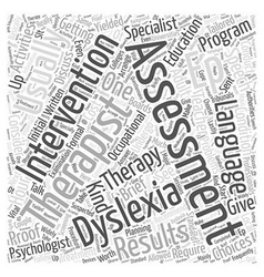 Assessment choices for adult dyslexia word cloud vector