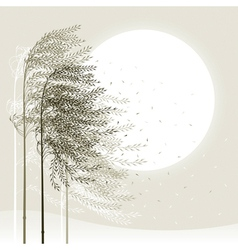 Winter reed background vector