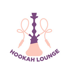 Purple and pink hookah lounge logo vector