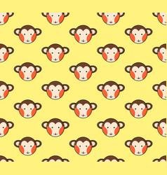 monkey seamless on yellow background vector image