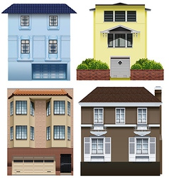 Different building designs vector