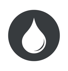 Monochrome round water drop icon vector
