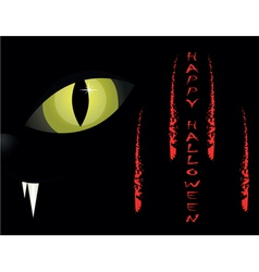 cats eyes halloween background vector image