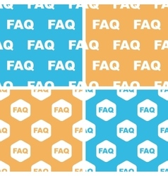 Faq pattern set colored vector