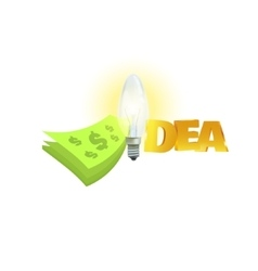 Money and word idea with light vector