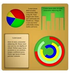 With charts and graphs for infographics template vector