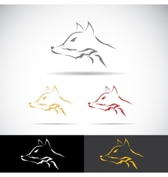 Fox sign label or tattoo design vector