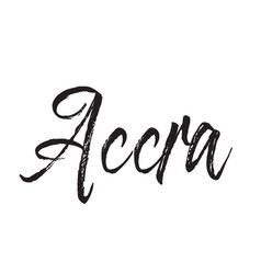 accra text design calligraphy typography vector image