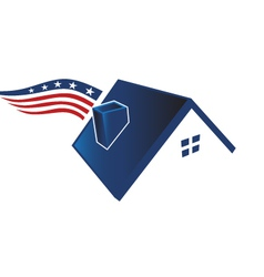 American house icon vector