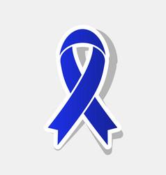 Black awareness ribbon sign new year vector