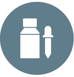 Bottle and dropper vector