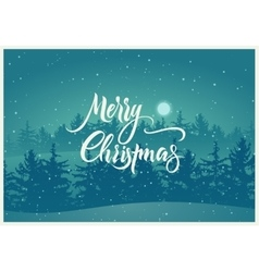Calligraphic retro christmas card design vector