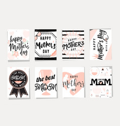 card set for happy mothers vector image