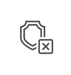Cargo insurance line icon vector