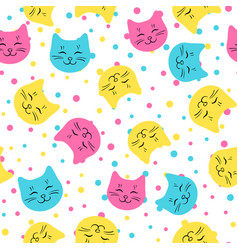Cats pattern vector