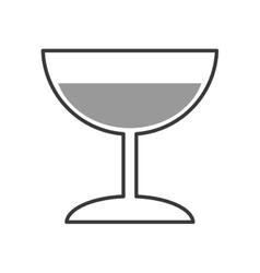 Cocktail alcohol drink design vector
