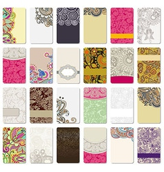Colorful floral ornamental business card vector
