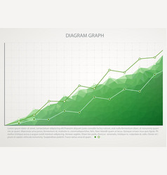 green business chart graph with two lines vector image