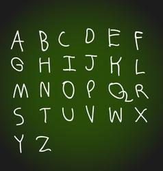 Hand drawing alphabet design vector