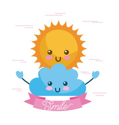 hello summer cartoon vector image