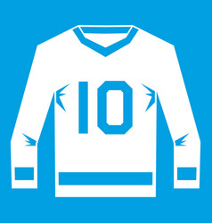 Hockey jersey icon white vector