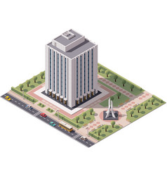 isometric office building icon vector image vector image