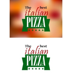 Italian pizza banner or logol vector image vector image