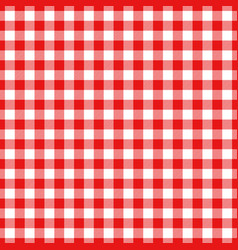 Lumberjack plaid pattern in red and black vector