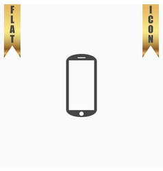 mobile flat icon vector image vector image