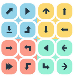 Set of 16 simple indicator icons can be found vector